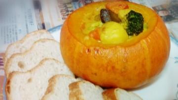 南瓜焗咖哩雜菜