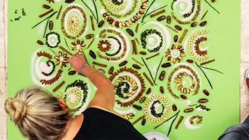 藝術家以蔬果作畫宣傳素食