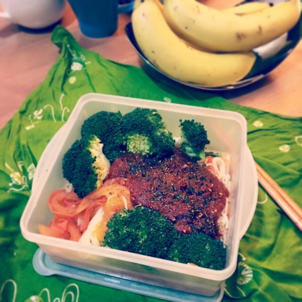 5分鐘(無技巧)番茄意粉lunch box