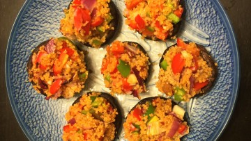 北非小米焗釀冬菇 Stuffed Mushroooms with Couscous