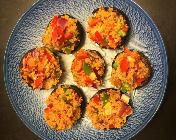 北非小米焗釀冬菇 Stuffed Mushroooms with Couscous